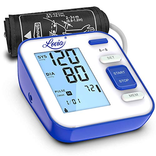 Blood Pressure Monitor for Upper Arm - Accurate Digital Automatic BP Monitor for Home Use with Large Display and Portable Cuff, Monitoring high blood pressure and Irregular Heartbeat, FDA/CE Certified (Best Blood Pressure Machine For Home Use)
