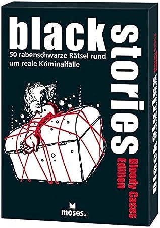 black stories Bloody Cases Edition: 50 rabenschwarze Rätsel rund um reale Kriminalfälle: Amazon.es: Juguetes y juegos