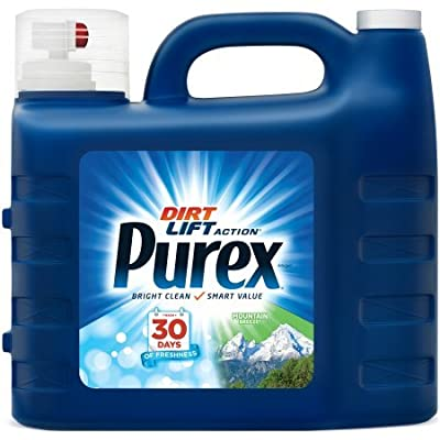 Purex Mountain Breeze Dirt Lift Action Liquid Laundry Detergent Set of 2, 300 fl oz/per bottle, Total of 600 fl oz