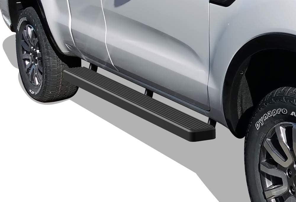 APS iBoard Black Powder Coated 5 inches Running Boards Nerf Bars Side Steps Step Rails Compatible with 2019-2020 Ford Ranger Super Cab 2-Door