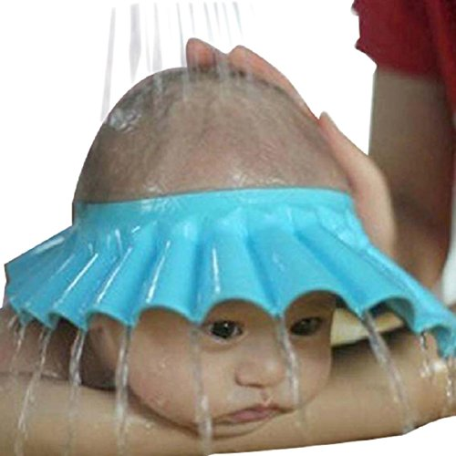 Lookatool Safe Shampoo Shower Bathing Bath Protect Soft Cap Hat for Baby Children Kids - Bath Babies Style