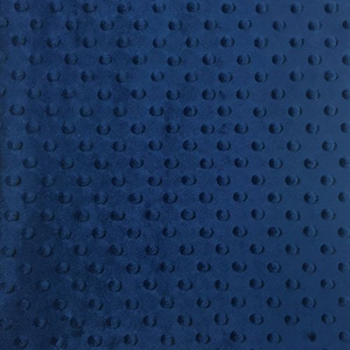 Minky Dimple Dot Fabric - Navy - 2 yards