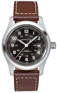 Hamilton - Reloj hombre, khaki field auto 42mm h70555533, color negro