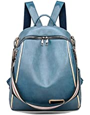 Women's Fashion Anti Theft Waterproof Leather Backpack Purse, Travel Camping Schoolbags Shoulder Bag Casual Drawstring Daypack