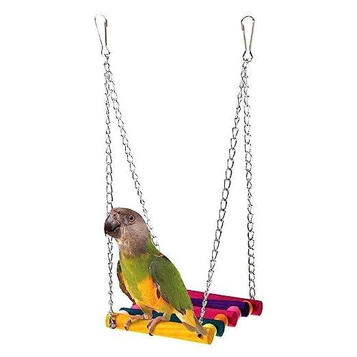 xel_uu.11 - Soporte para Jaula de pájaros, Hamaca, Juguete ...
