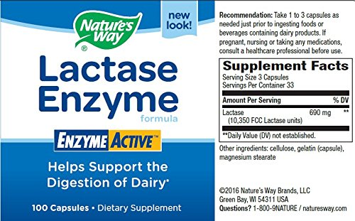 Nature's Way Lactase Enzyme 100 Capsule by Nature's Way (Image #1)