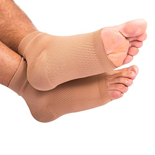 Bitly Compression Foot Sleeves for Men & Women (1 Pair) - BEST Plantar Fasciitis Sleeve for Plantar Fasciitis Pain Relief, Heel Pain, and Treatment for Everyday Use with Arch Support (Medium) by Bitly