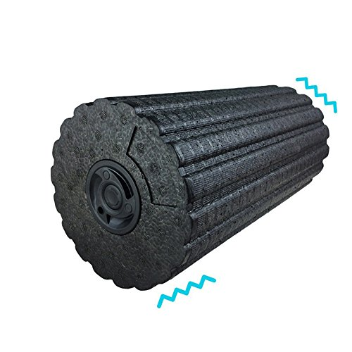 Vibrating Foam Massage Roller 4 Speed High Intensity Rechargeable 12Inch Exercise Muscle Roller