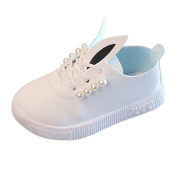 Zapatos de Bebe Niña, ❤ Amlaiworld Zapatillas de deporte de perlas de Bebé Zapatos de dibujos animados suaves antideslizantes para niñas Botas Calzado: ...