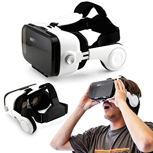 Oct17 3D Virtual Reality VR Z4 4th Generation Glasses video Game movie Box with Headset Headphones Earphones For IOS Android Iphone 6 plus Samsung Galaxy S6 Edge+