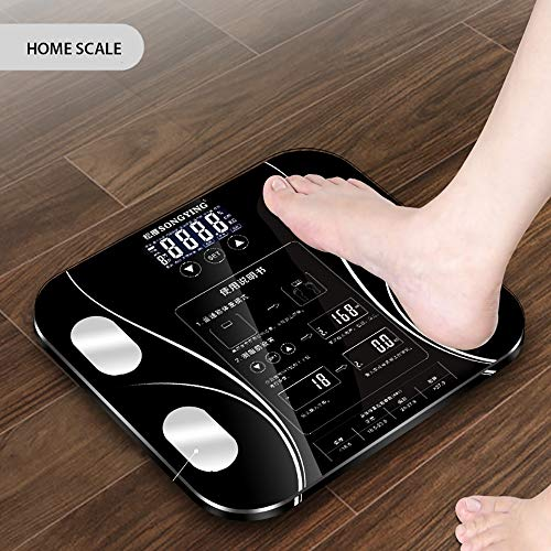 ZUEN Body Index Electronic Smart Weighing Scales Bathroom Body Fat Bmi Scale Digital Human Weight Mi Scales Floor LCD -