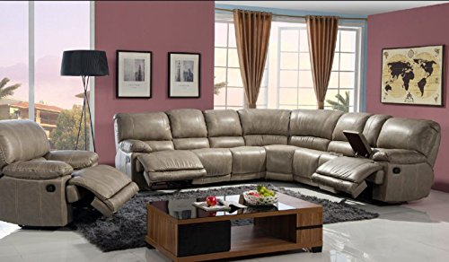 McFerran Home Furniture Bonded Leather Sectional , SF3671 Tan
