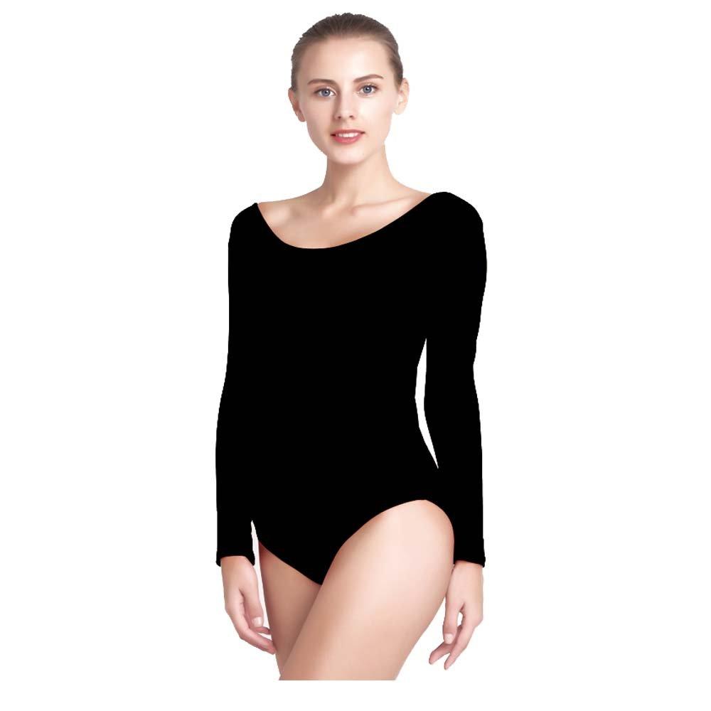 5f2c43e17 Amazon.com   ovimo Women s Long Sleeve Leotard Ballet Dance Spandex ...