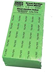 Chinese Auction Tickets - 250 Sheets Green - Raffle Fundraiser - Penny Auction - Tricky Tray - Silent Auction Tickets