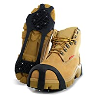 MaxxDry GripOn Lightweight Traction Cleats for Walking on Snow and Ice (Pair)