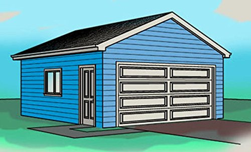 Two Car garage plan - Single Story - 20' x 32' - By Cad Northwest (Garage Plans Story Two)