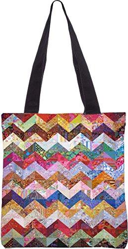 Snoogg hori Grunge-Wellen 2567 13,5 x 15 Zoll-Shopping-Dienstprogramm-Einkaufstasche aus Polyester-Segeltuch gemacht