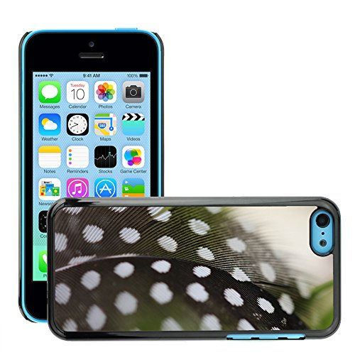 Just Phone Cases Hard plastica indietro Case Custodie Cover pelle protettiva Per // M00128784 Guinée Fowl Oiseau Plume Printemps // Apple iPhone 5C