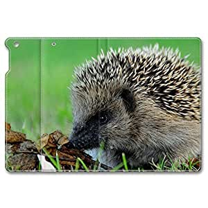 iPad Air Case, Shock-Absorption/Impact Resistant PU pc hard Personalized Protective Folio Smart Case Cover(Automatic Wake/Sleep Function) for iPad Air - Cute Hedgehog by supermalls
