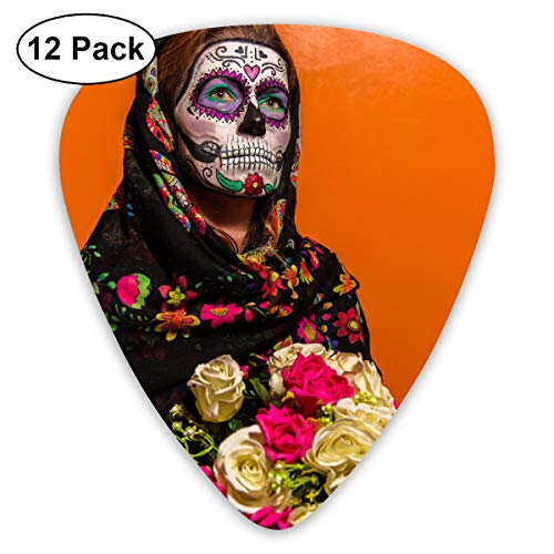 Blooming Bouquet Delicate Eyes Face Paint Girl Halloween Headscarf Bendy Ultra Thin 0.46 Med 0.73 Thick 0.96mm 4 Pieces Each Base Prime Plastic Jazz Mandolin Bass Ukelele Guitar Pick Plectrum Display]()