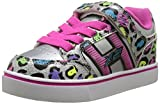 Heelys Girl's Bolt X2 Lighted (Little Kid/Big Kid/Adult) Silver/Multi/Cheetah Athletic Shoe