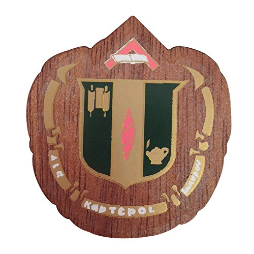 (Delta Zeta Wood Crest Made of Wood for Paddle Mascot Board (1.5 Inch Tall Single Raised))