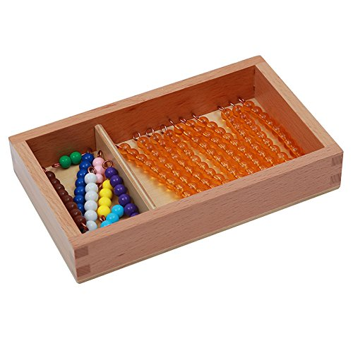Montessori Math Teens and Tens Seguin Board with Bead Bars Wood Toys Early Childhood Education Preschool Training Baby by DANNI (Image #8)