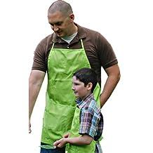 A Greener Kitchen AP021 Mens Organic Cotton Full Apron - Lime Green