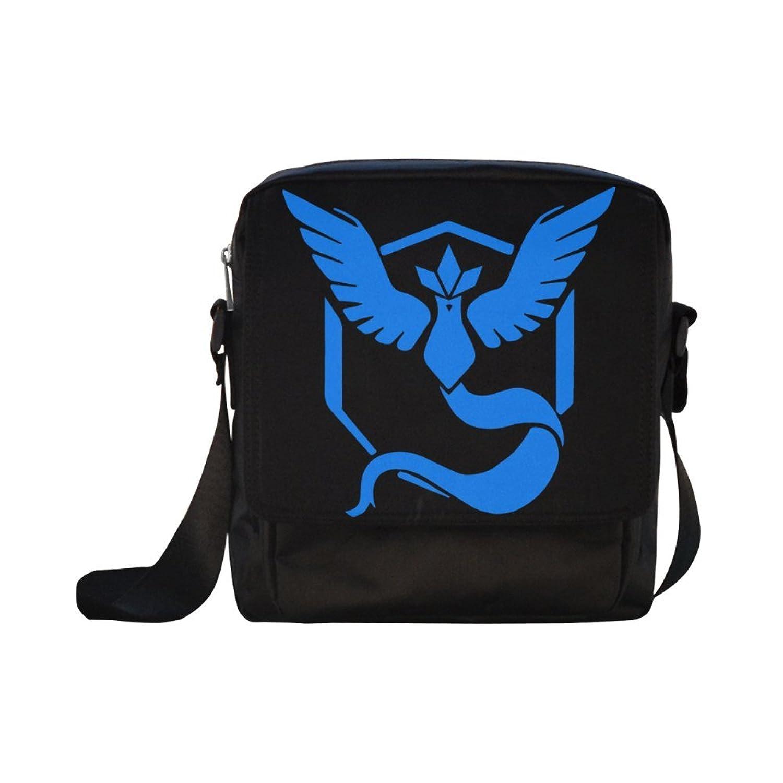 DOROT Pokemon Video Game Anime Pikachu Unisex Nylon Waterproof Material Black Cross-body Nylon Bags Shoulder Bag