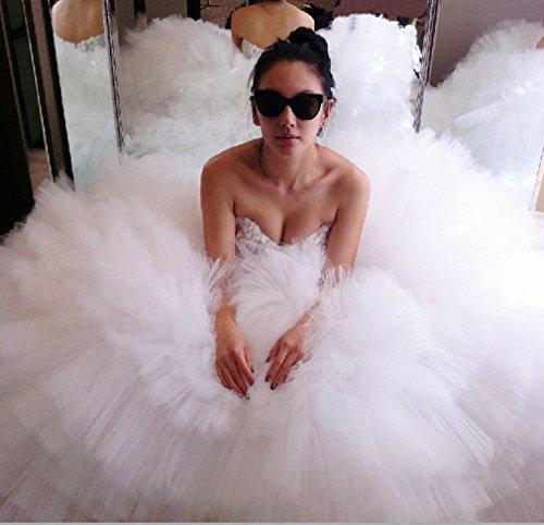 Bianca L Di Pizzo Sposa DIDIDD Abito Abito Coreano Sposa da in Dimensioni Lungo Grandi da xRT6OwvTqH