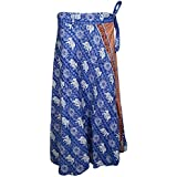 Mogul Interior Womens Tie Wrap Rayon Printed Flowing Long Maxi Skirts S/M/L