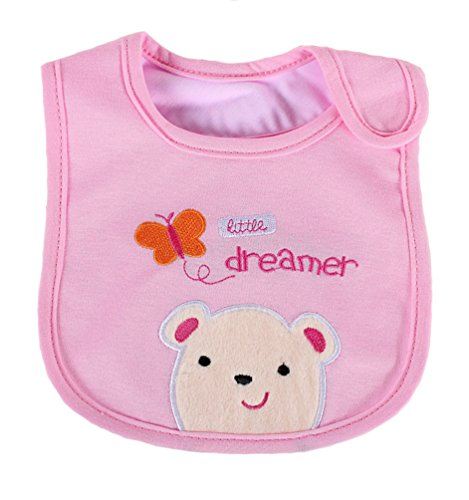 [Bear Pink Newborns Infant 0-3 Years Baby Bibs Infant Saliva Towels Newborn Wear Burp Cloths] (Infant Red Minnie My First Disney Costumes)