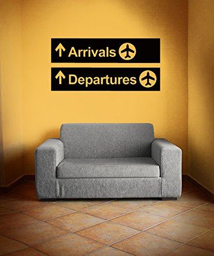 Vinyl Wall Decal Sticker Bedroom Airport Point Signs Plane Air Arrived Gift  R1575