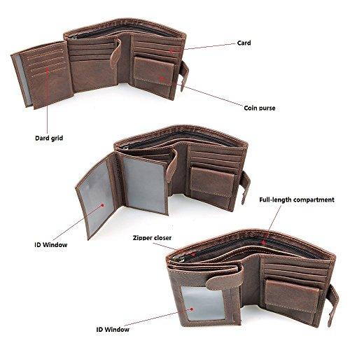 UK-aphison - Cartera para hombre hombre marrón marrón small: Amazon.es: Equipaje