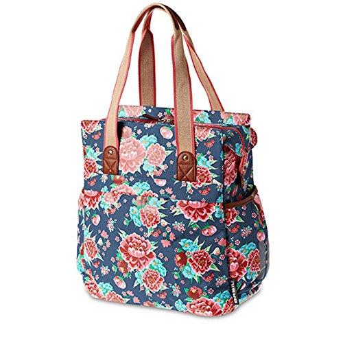 Basil Bloom Shopper Handtasche Fahrrad Tasche, BloomShopper, Design Bloom indigo blue