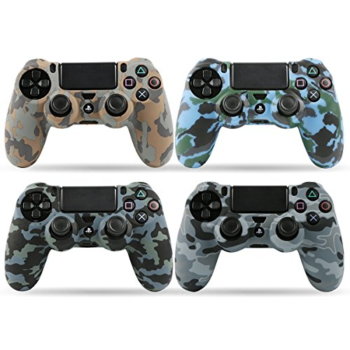 LZETC Silicone PS4 Controller Skin, Design of Water Transfer Printing Skin Protector Cover Case for Sony PlayStation 4 Controller with Matching Thumb Grips, Set of 4 by LZETC (Playstation 4 Protective Case compare prices)
