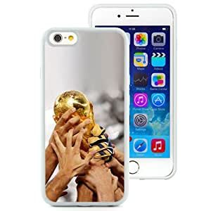 "Beautiful iPhone 6 4.7"" TPU Cover Case ,Worldcup In Hands White iPhone 6 4.7"" TPU Phone Case Unique And Durable Designed Screen Case"