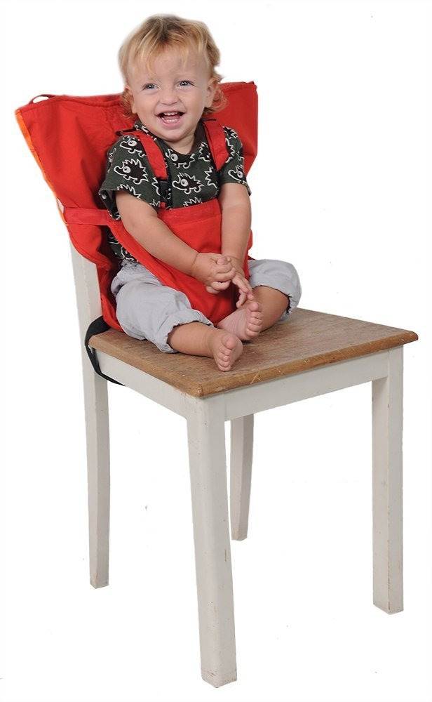 Aurelius Portable High Chair for Travel Toddlers,Perfect for Home,Restaurants (Pink)
