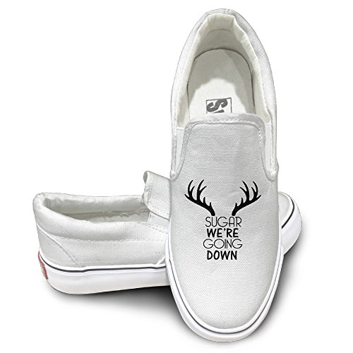 Rebecca Fall Out Boy Sugar Comfort Unisex Flat Canvas Shoes Sneaker 36 White The Round Toe And Manmade Sole Will Keep Your Feet Feeling Comfortable And The Quality Canvas Materials Will Provide Years Of Wear.