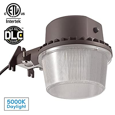 1/2 PACK 35W Brown Finish Barn Light 3000K/5000K Daylight AC 90-135V Input Voltage Dusk-to-Dawn Function