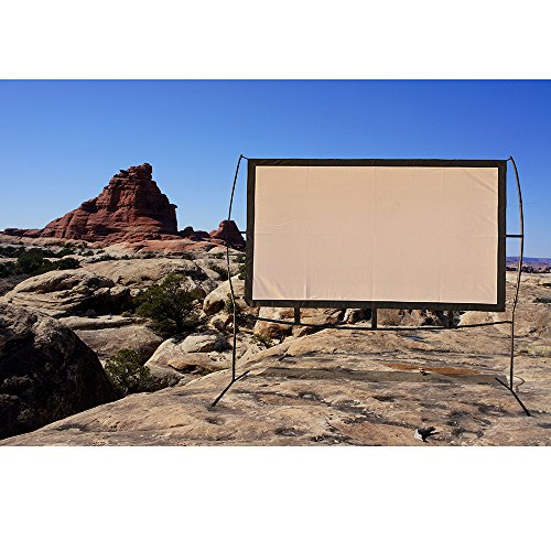 Portable Projector Screen with Stand, Indoor and Outdoor Movie Screen 100'' Diagonal 16:9 with Wrinkle-Free Design (Easy to Clean, 1.1 Gain, 160° Viewing Angle and Includes a Carry Bag) by Blina (Image #5)
