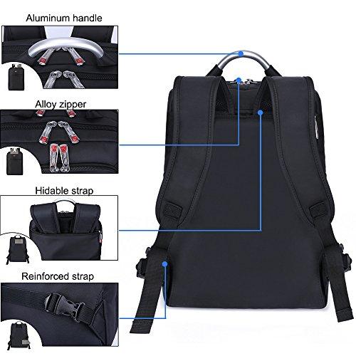 V Point Slim Laptop Rucksack 15,6Herren–Computer Tasche Business leicht wasserdicht Anti Diebstahl Rucksack Daypack für Schule, Reisen, Reise, Arbeit (schwarz)