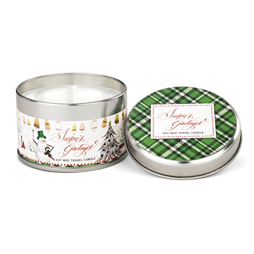 - Michel Design Works Soy Wax Candle in Travel Tin Size, Season's Greetings