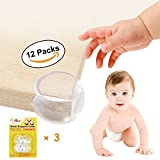 Lokinly Baby Proofing Corner Guards Small Corner Protector Clear Baby Corner Guards 12 Pack Child Proof Corner Safety Bumpers Round Corner Guards with High-Power Adhesive