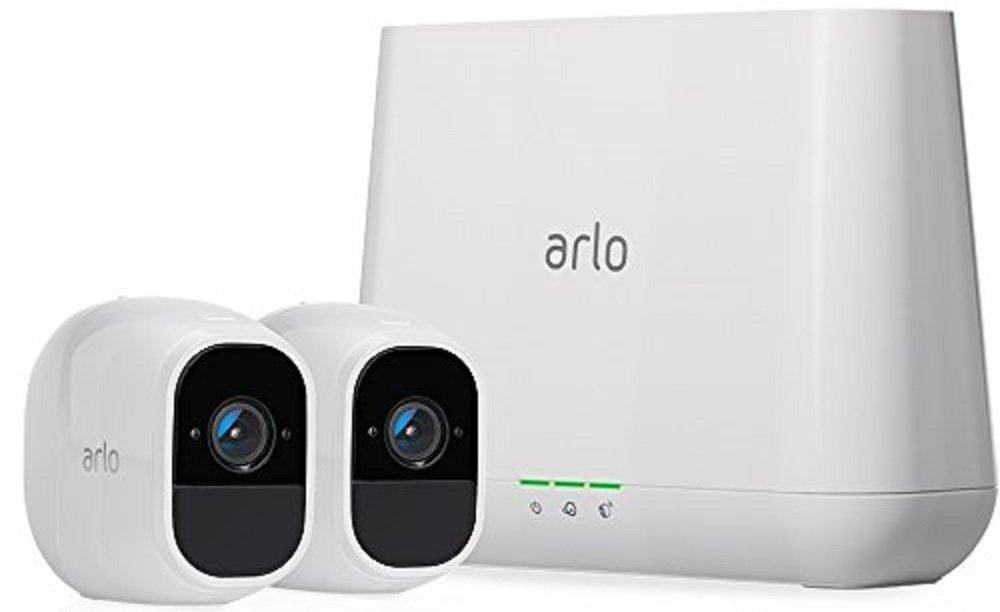 arlo pro 2 wireless home security camera system with sirenarlo pro 2 wireless home security camera system with siren, rechargeable, night vision, indoor outdoor, 1080p, 2 way audio, wall mount, cloud storage
