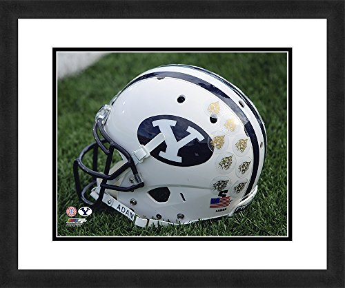 NCAA BYU Cougars, Beautifully Framed and Double Matted, 18