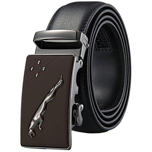8 Leather 1 Automatic Belt Wide Men Buckle s Ratchet Gun Black Color 3 Genuine Dress tvx7xpCqw