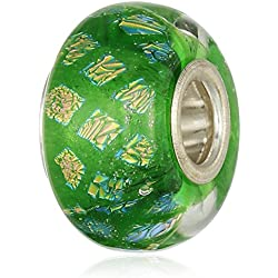 Chamilia Sterling Silver and Murano Glass Opulence Green Bead Charm