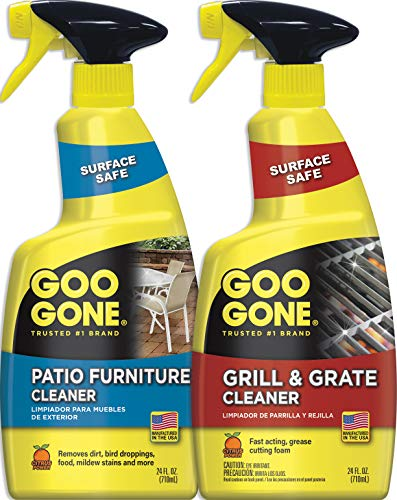 Goo Gone Grill, Grate & Patio Furniture Cleaner - 24 Ounce [2 Pack] - Grill Cleaner and Outdoor Furniture Cleaner (Cleaner Patio Resin Furniture)