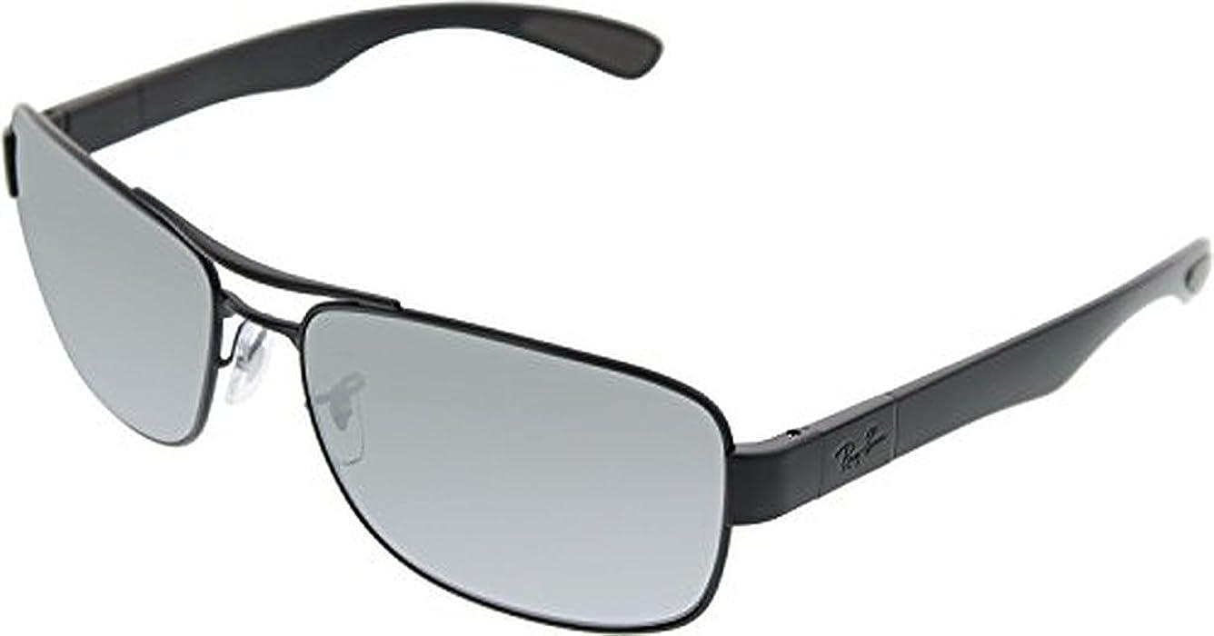 0253b2c19e2 Amazon.com  Ray-Ban RB3522 Sunglasses Matte Black Grey Mirror Silver ...